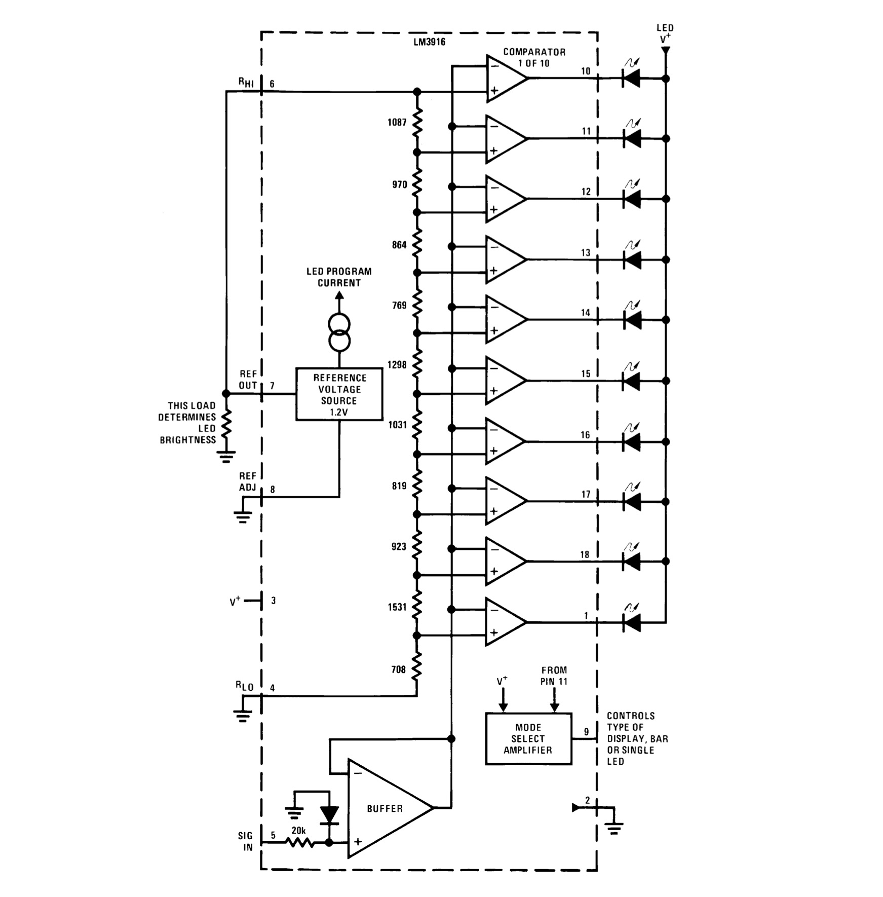 hight resolution of an led bargraph audio level display electric druid lm3916 block diagram