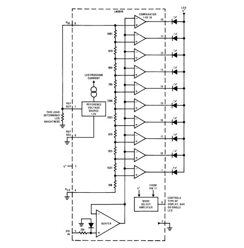 small resolution of an led bargraph audio level display electric druid lm3916 block diagram