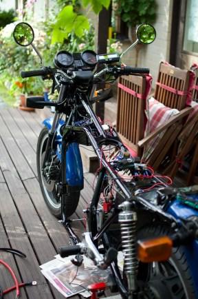 """Truly a """"naked"""" bike."""