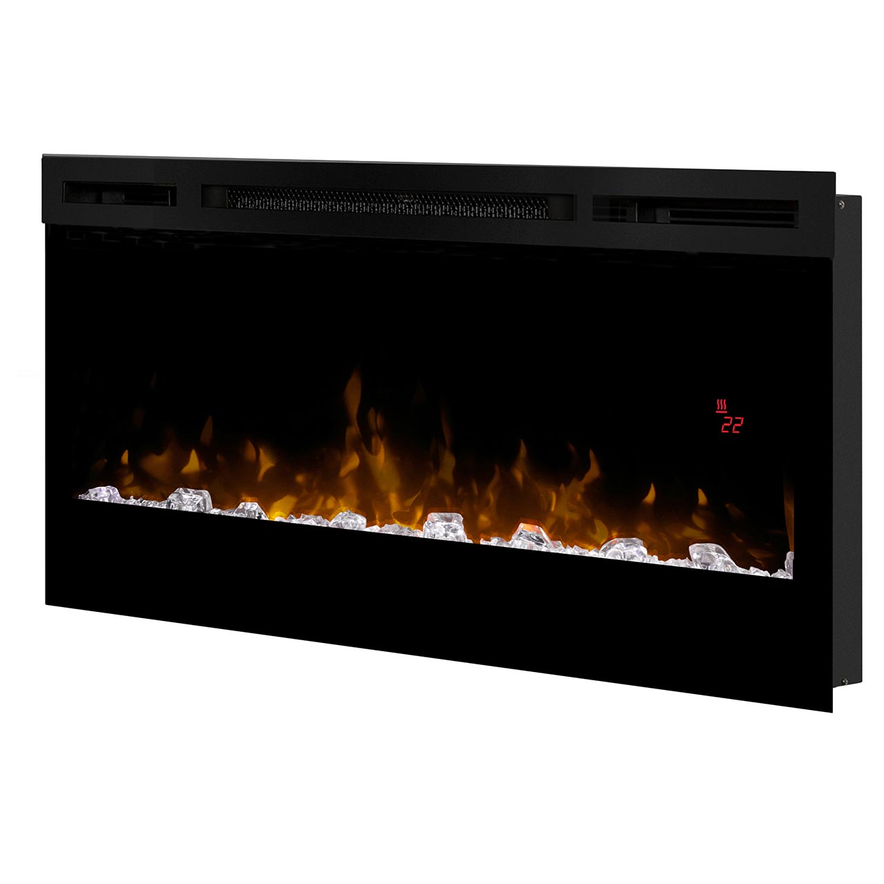 "Fireplace Electric Wall Mount Dimplex 34"" Blf3451 Prism Wall Mount Electric Fireplace"