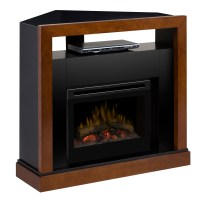 Tanner Electric Fireplace Media Center w/ Logs - GDS25-5309WN