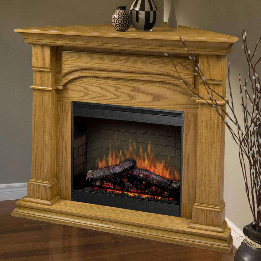 Corner Electric Fireplace With Mantel This Item Is No Longer Available.