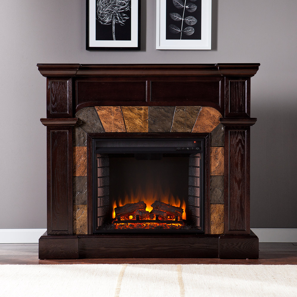 Corner Electric Fireplace With Mantel Cartwright Espresso Convertible Electric Fireplace Mantel
