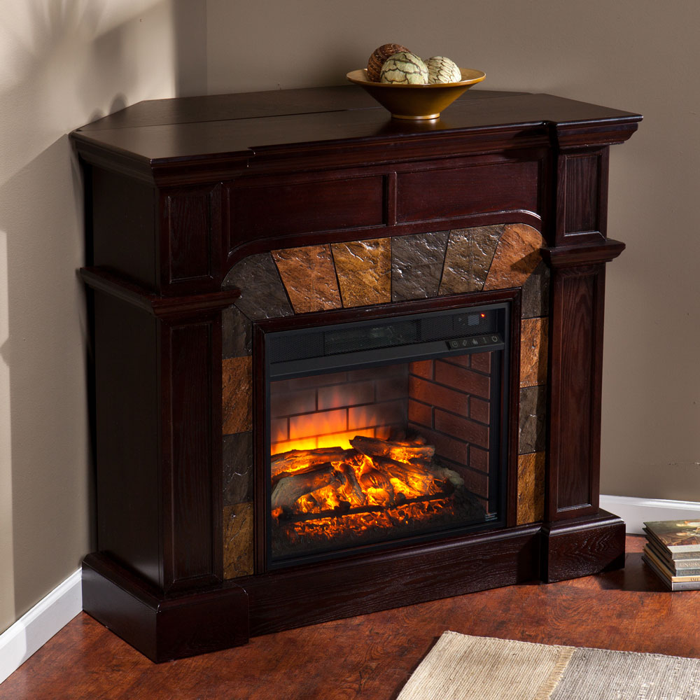 Corner Electric Fireplace With Mantel Cartwright Wall Or Corner Infrared Electric Fireplace