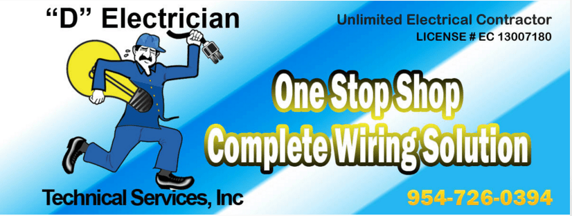 Electrician In Broward County 954-726-0394 Logo