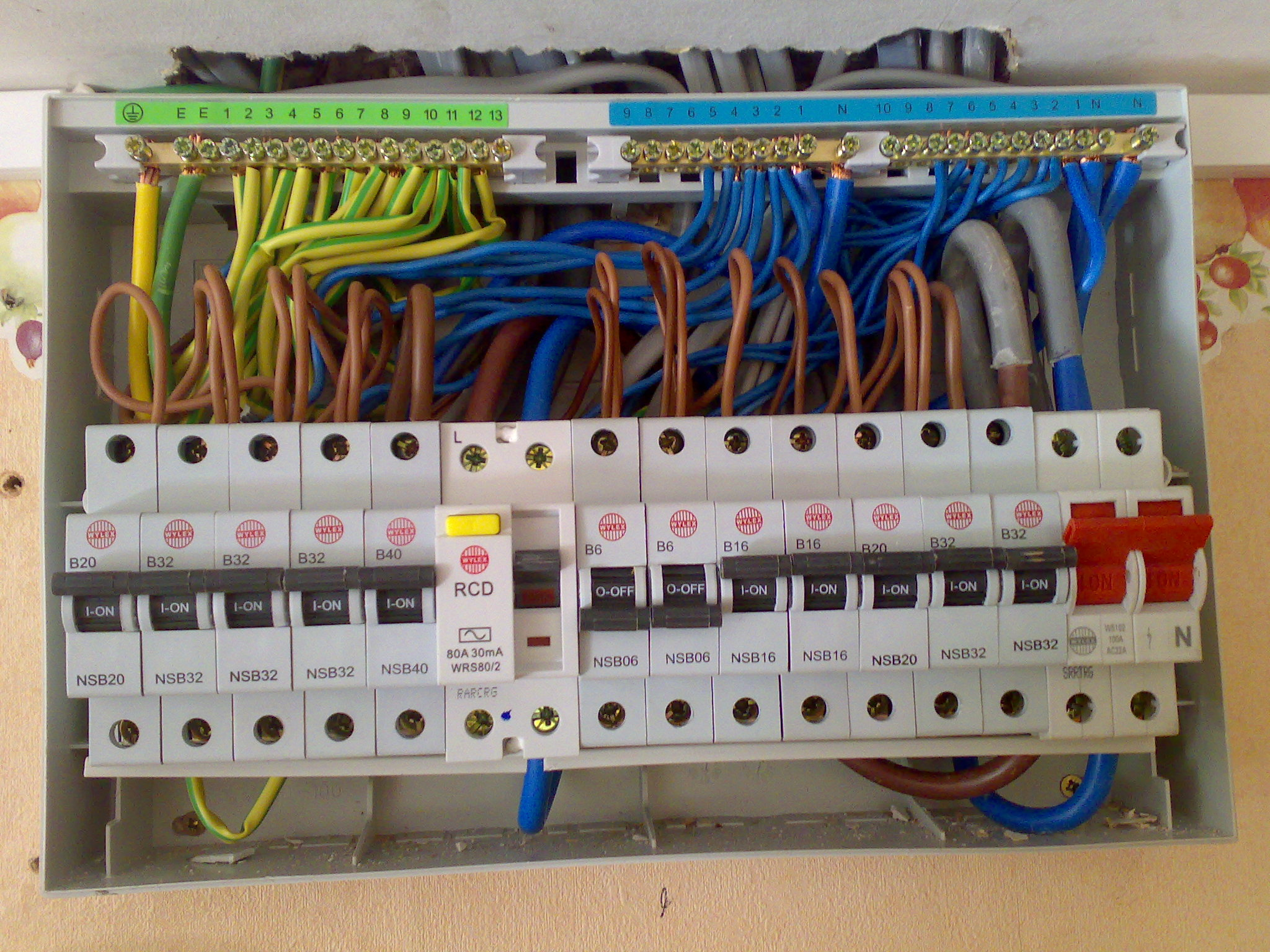 Wiring A Consumer Unit And Installation Distribution Board Wiring