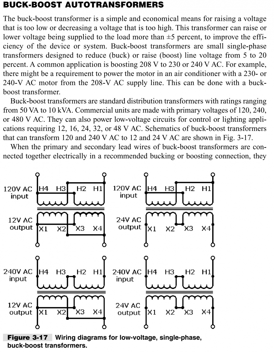208v To 240v Buck Boost Transformer Wiring Diagram : boost, transformer, wiring, diagram, Electrician