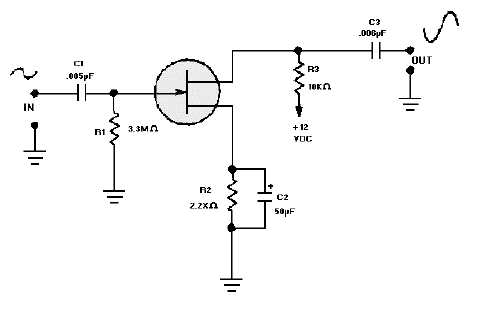 Figure 3-51.JFET common source amplifier