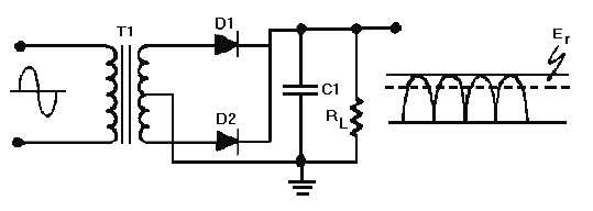 Figure 4-17B.Capacitor filter circuit (positive and
