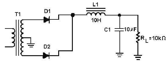 circuit full wave capacitor full wave choke full wave