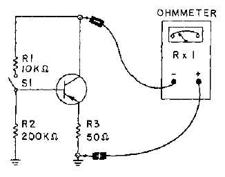 Testing Transistors with an Ohmmeter