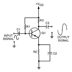 Figure 1-23.Transistor audio amplifier.