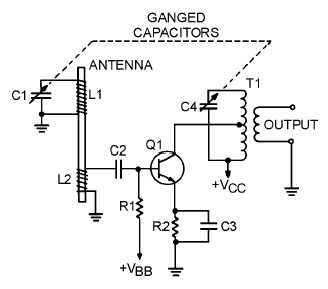 simple am receiver circuit diagram 480v to 24v transformer wiring schematic of radio figure 2 19 typical rf amplifier live sound