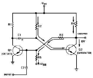 Figure 3-11.Monostable multivibrator schematic.
