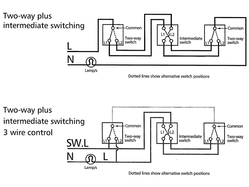 Un Va Et Vient A 3 Interrupteurs Sans Telerupteur