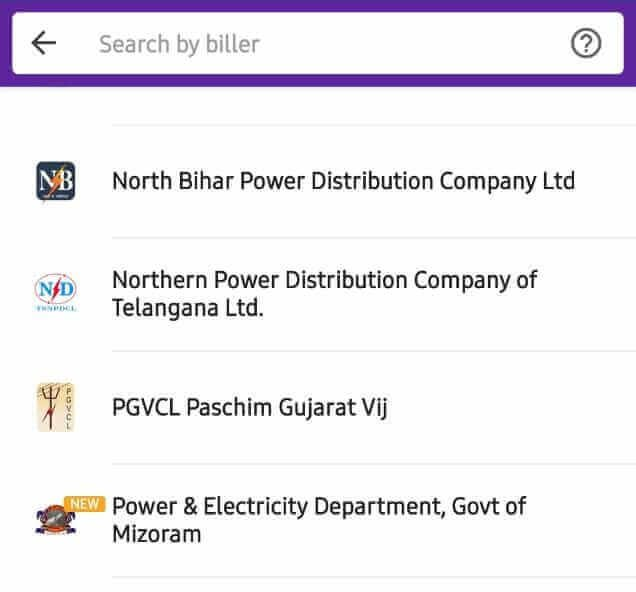 Electricity Bill Payment Through PhonePe
