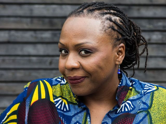 Nigerian writer Lola Shoneyin at the Leselenz 2015 in Hausach. Credits: Harald Krichel CC BY-SA 4.0. Photo link: https://commons.wikimedia.org/wiki/Category:Lola_Shoneyin#/media/File:Lola_Shoneyin-1304.jpg. CC link: https://creativecommons.org/licenses/by-sa/4.0/.