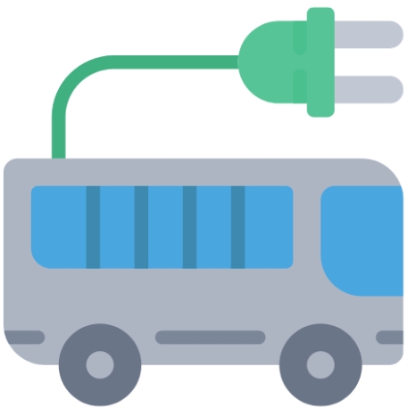 Electric buses are a great inter-city distribution alternative for public transportation that can be connected to terminals of peripheral trains.