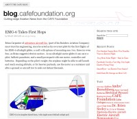 CAFE foundation Blog Article EMG-6 First flights by Dean Sigler