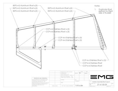 27-41-00 Rudder Assembly LD