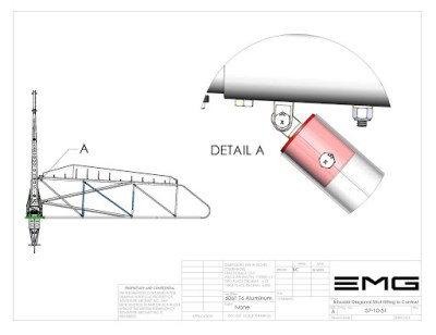 57-10-51 Inboard Diagonal Strut Fitting