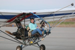 Carol Carpenter Fly's the EMG-6