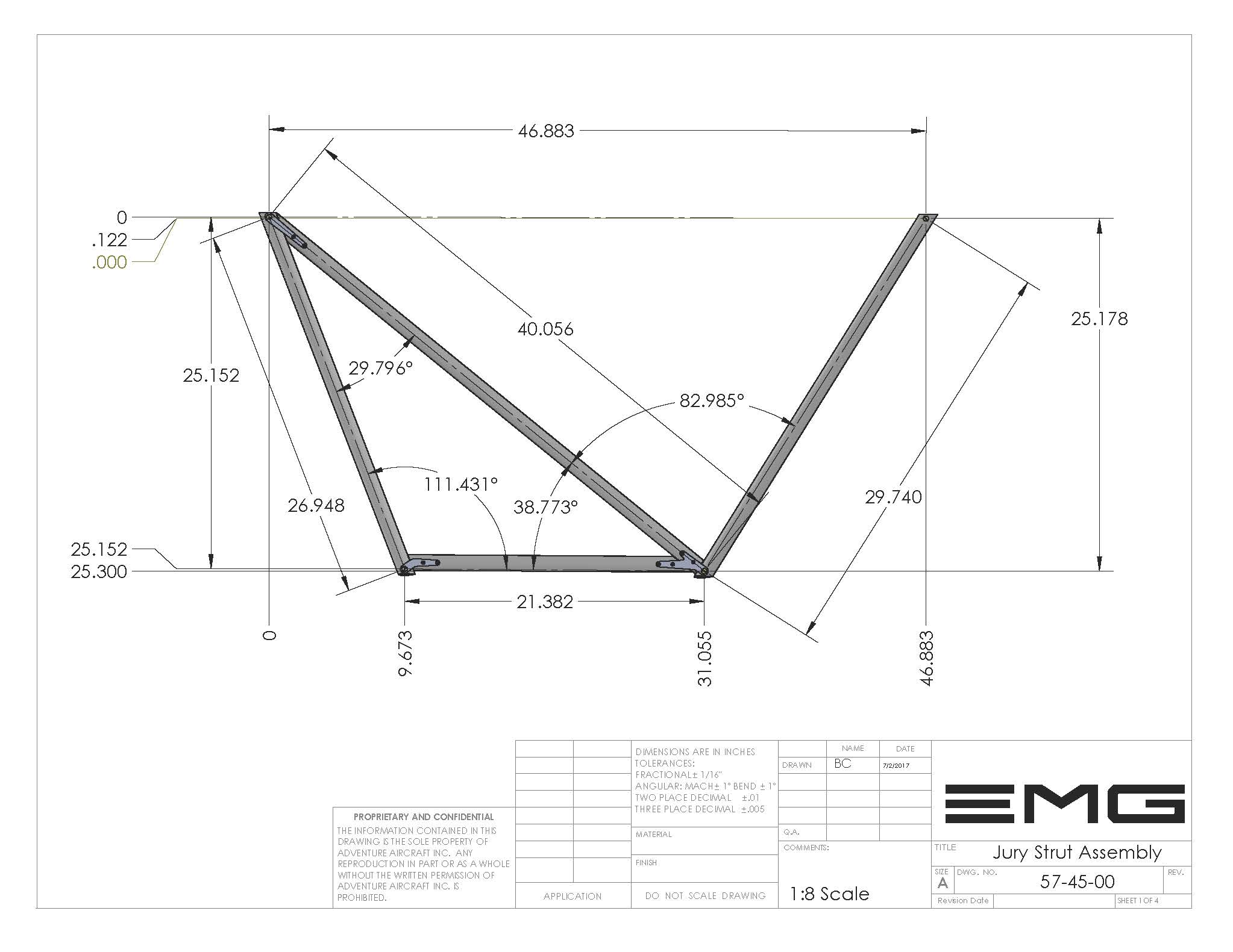 EMG-6 Home of the EMG-6 Electric Motor Glider jury strut
