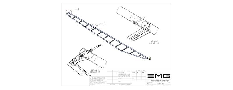 Hangar 7 Rainbow Aviation 27-11-70 Aileron Spar Assembly