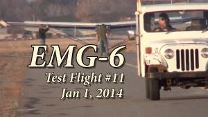 EMG-6 Flight Test #11 Jan 1, 2017  (Video)
