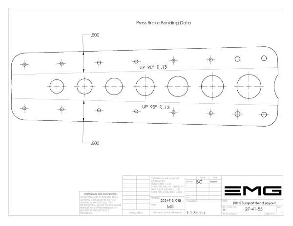 rib 2 support bend diagram