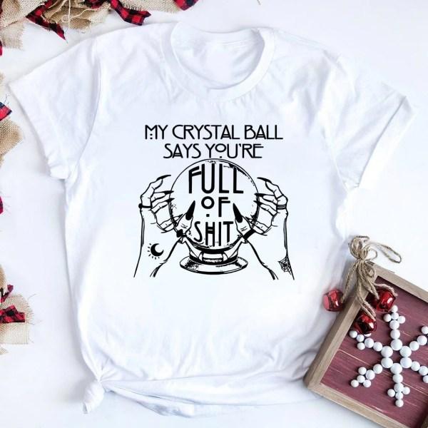 White Crystal ball shirt