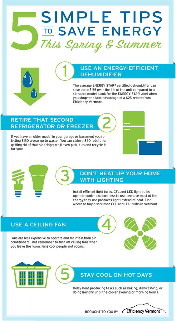 5 tips to save energy
