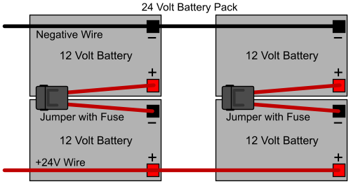 battery pack wiring direction  electricscooterparts