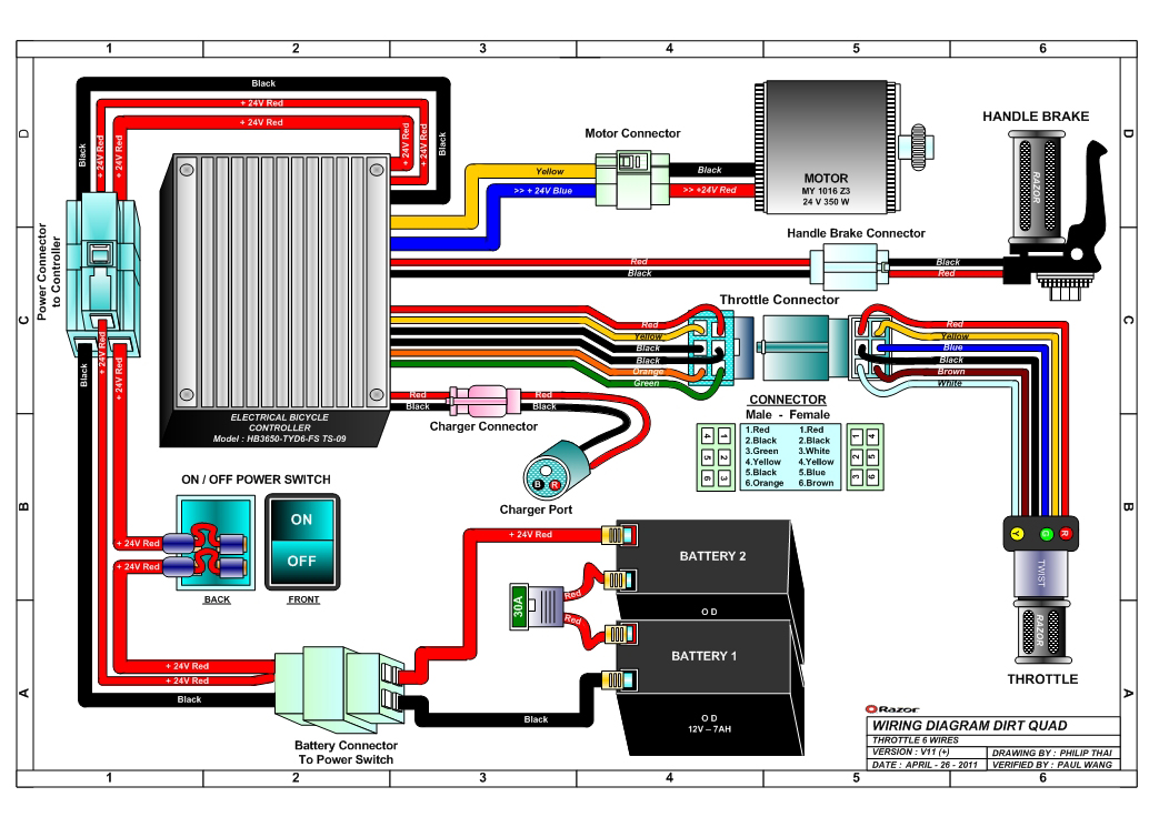 key switch wiring diagram lighting 3 way connection razor dirt quad electric 4-wheel all-terrain vehicle parts - electricscooterparts.com