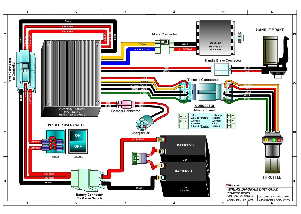 110 Atv Wiring Diagram 2001 Razor Dirt Quad Electric 4 Wheel All Terrain Vehicle Parts