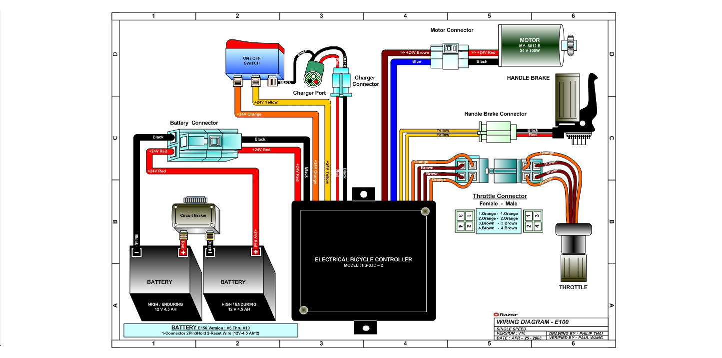 hight resolution of razor scooter diagram wiring diagrams electric e scooter wiring diagram razor e300 wiring diagram