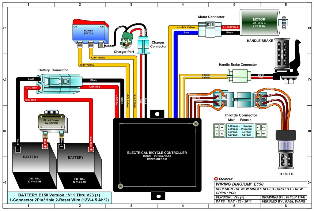 razor e150 wiring diagram 03 ford expedition fuse electric scooter parts - electricscooterparts.com