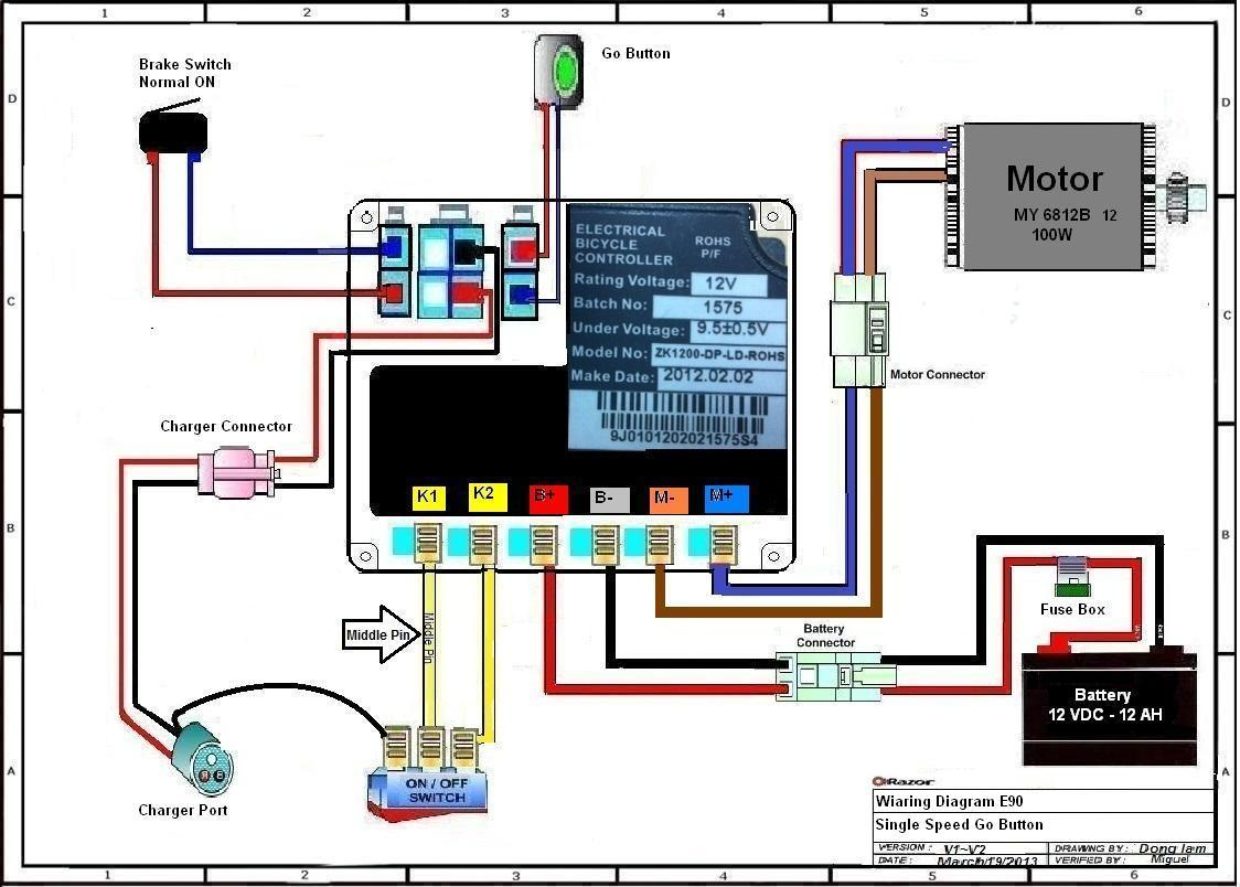 Razor Electric Scooter Wiring Diagram Razor E200 Scooter Wiring