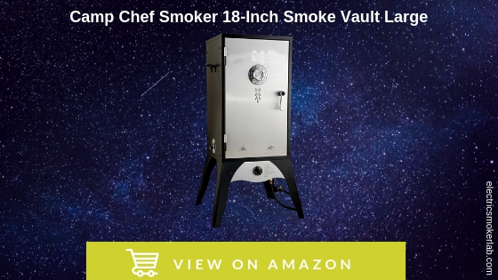 Camp Chef Smoker 18-Inch Smoke Vault Large with Stainless Door and Adjustable Shelves (SMV18S)