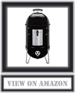 Top Weber 711001 Smokey Mountain Cooker 14-inch Charcoal Smoker, Black