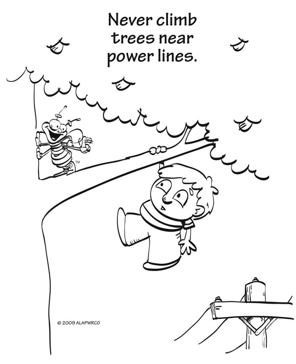 Electrical Safety Coloring Pages Coloring Pages