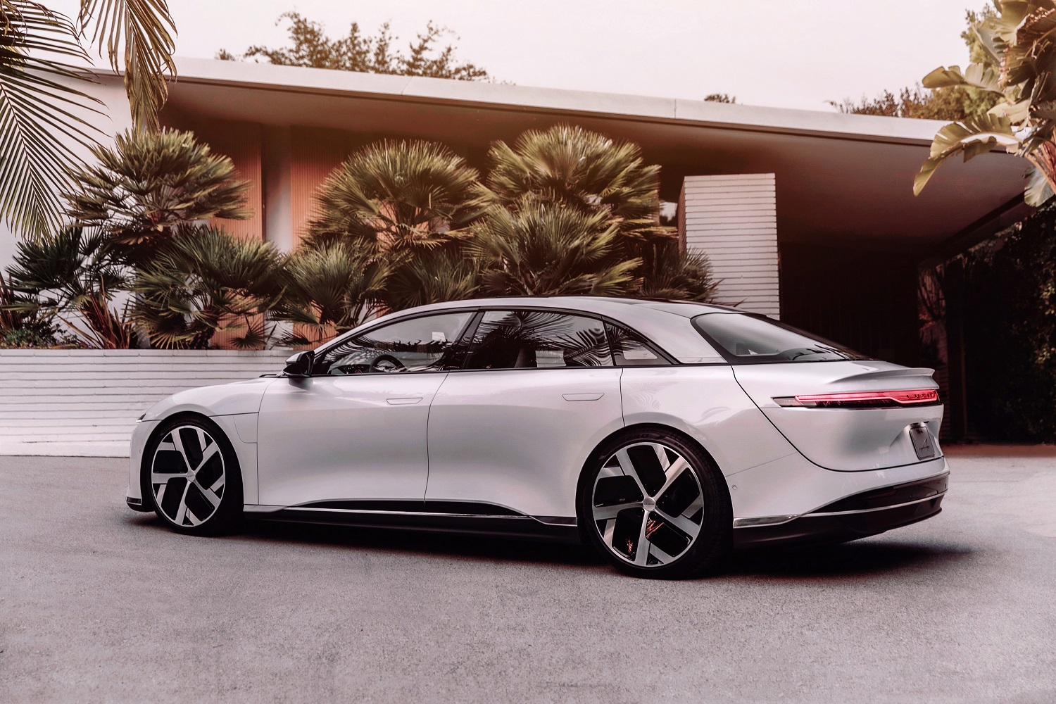 Lucid Air rear shot