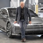Peter Rawlinson with Lucid Air