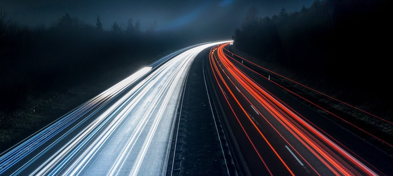 High speed picture of a motorway
