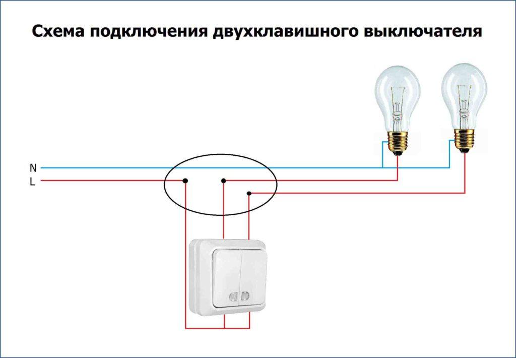 Bağlantı Şeması İki Blok Anahtarları