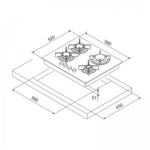 plaque de cuisson f409b focus electro