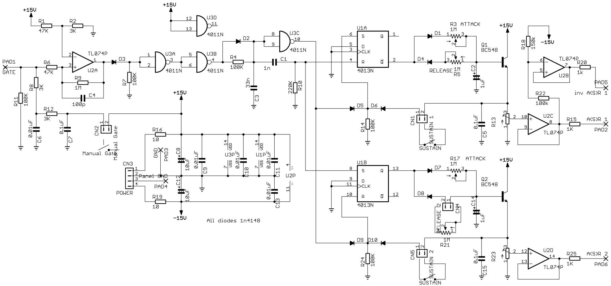 hight resolution of  multifunction lfo eg generator by osamu hoshuyama schematics music easel adaptation envelope generator by aaron lanterman
