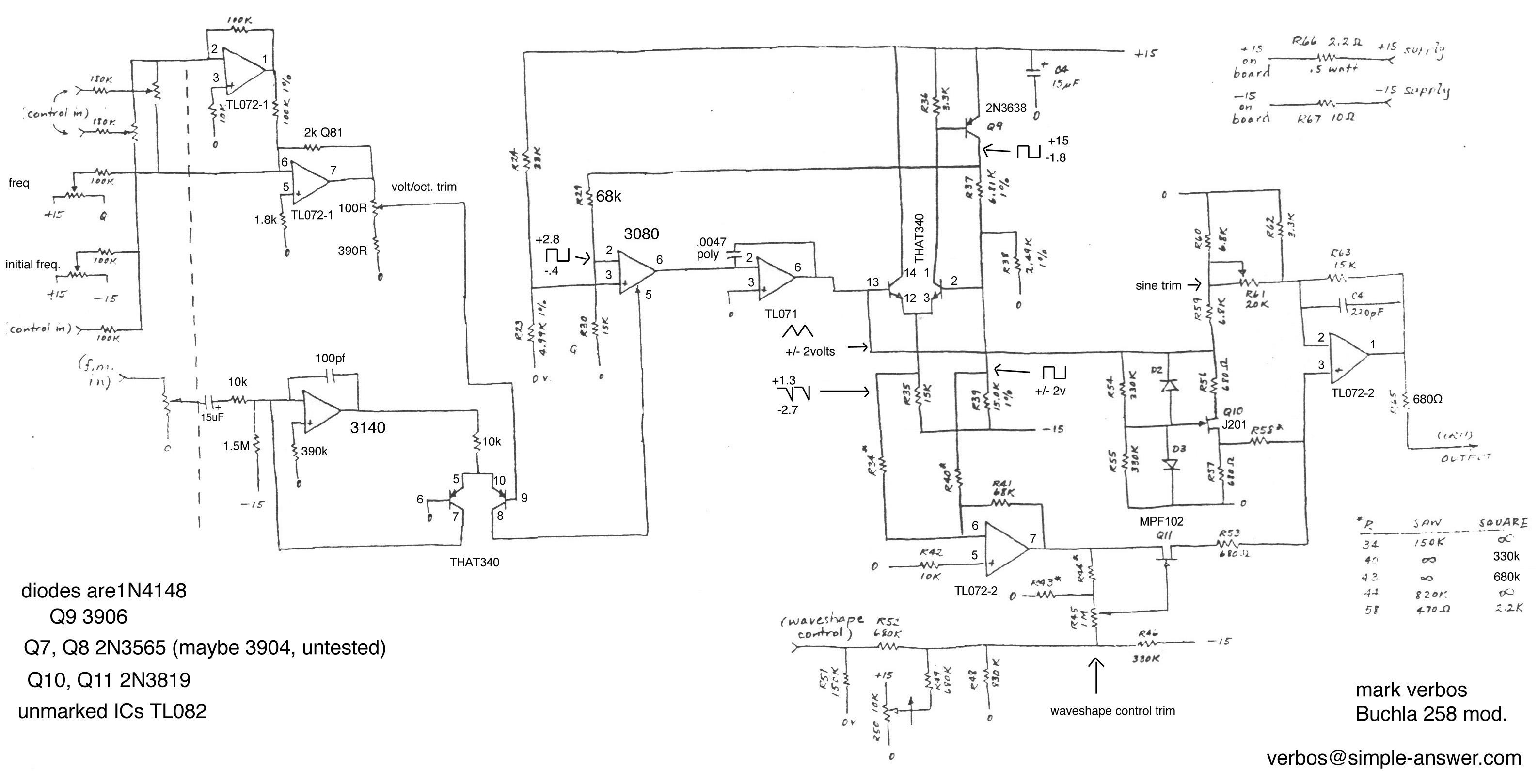 Electro music wiki schematics buchla 258 vco layout schematic