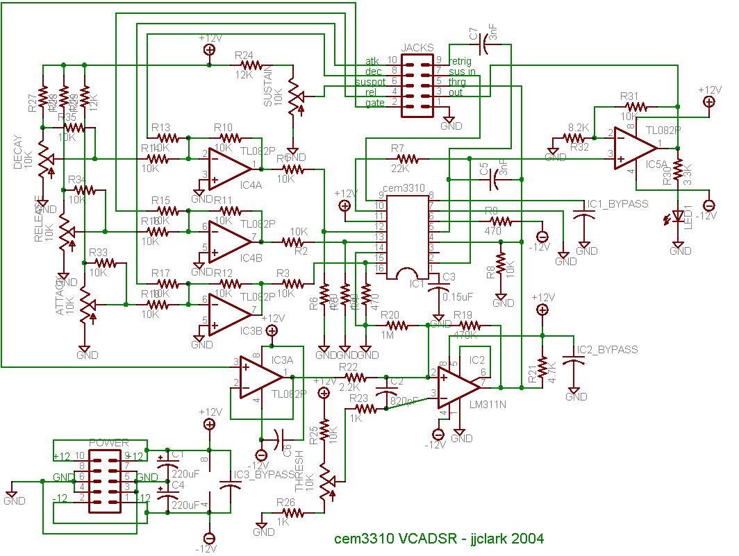 hight resolution of  voltage controlled envelope generator by rene schmitz schematics retriggerable ar envelope generator by ray wilson