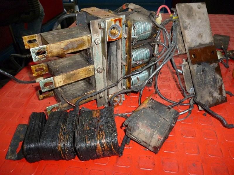 Bobinas quemadas de un generador de 15 Kw